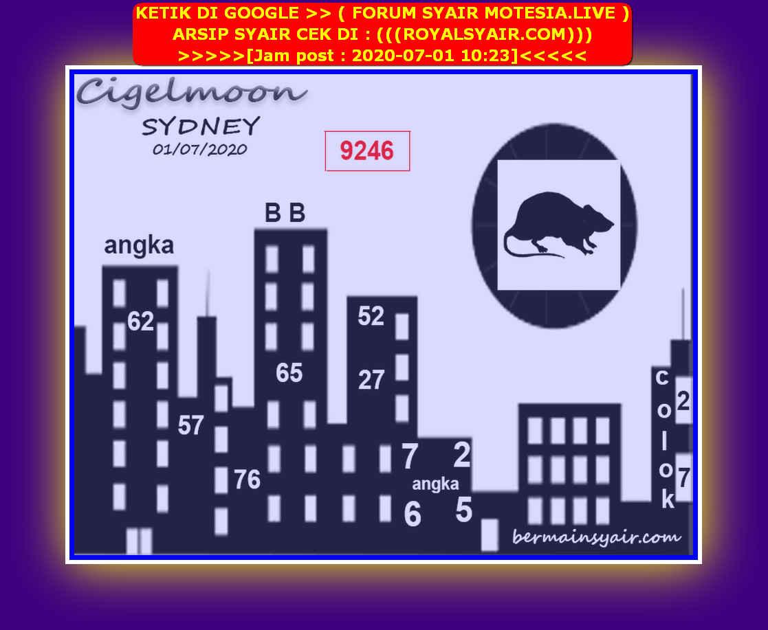 Kode syair Sydney Rabu 1 Juli 2020 98
