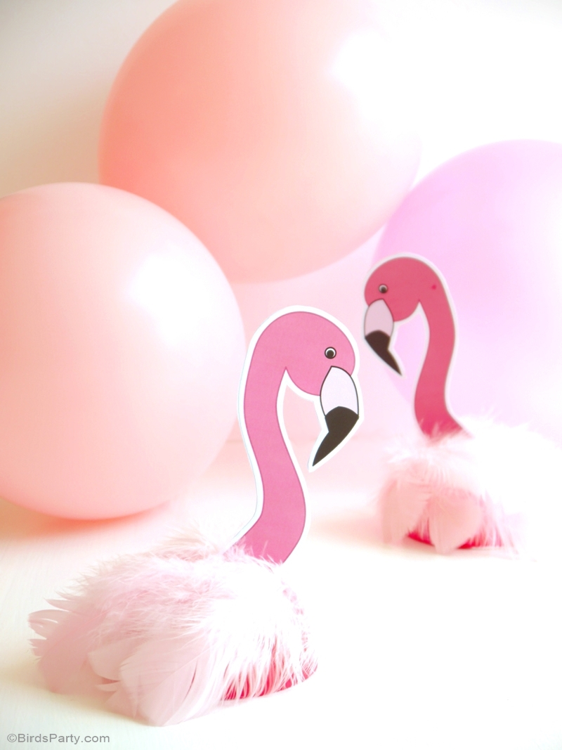 DIY Flamingo Birthday Party Decorations - BirdsParty.com