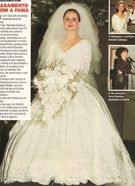 Ronaldo Esper vestido de noiva romântico