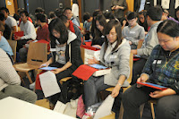 students studying and learning in classroom