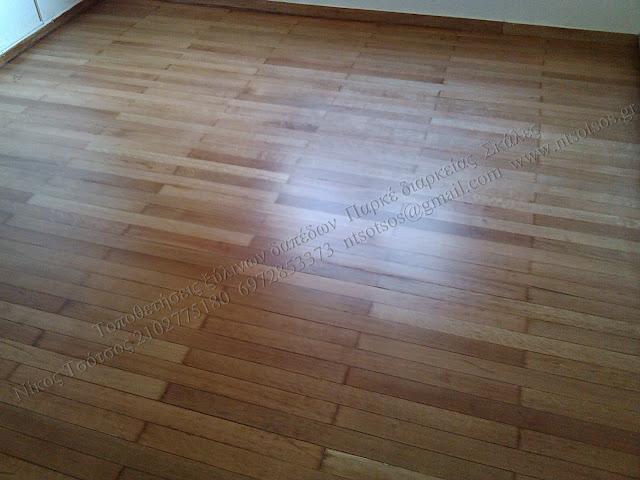 Συντήρηση σε ξύλινο πάτωμα με βερνίκι ματ
