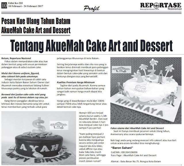 Profil Jual Kue Ulang Tahun Batam Akuemah Cake Art and Dessert