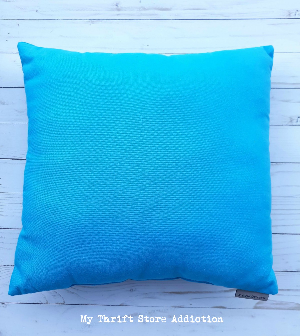 thrift store pillow upcycle