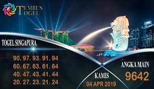 Prediksi Angka Togel Singapura Kamis 04 April 2019