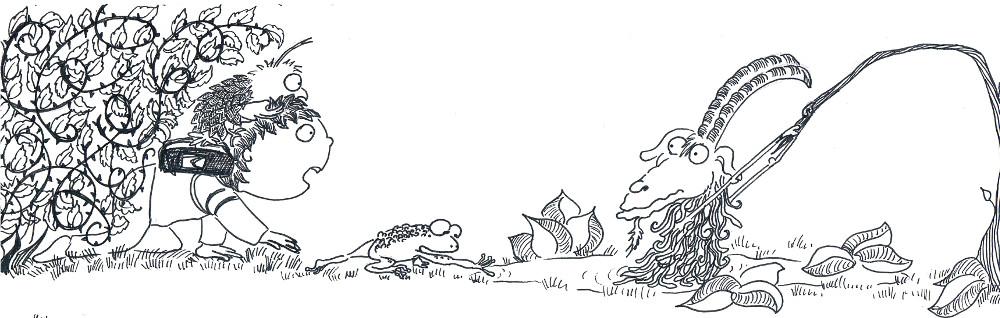 illustration jeunesse children encre ink bouc goat