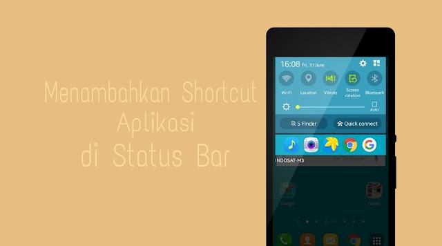 Menambahkan aplikasi di status bar android