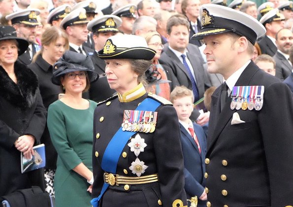 Queen Elizabeth and Princess Anne attended the commissioning ceremony of the aircraft carrier HMS Queen