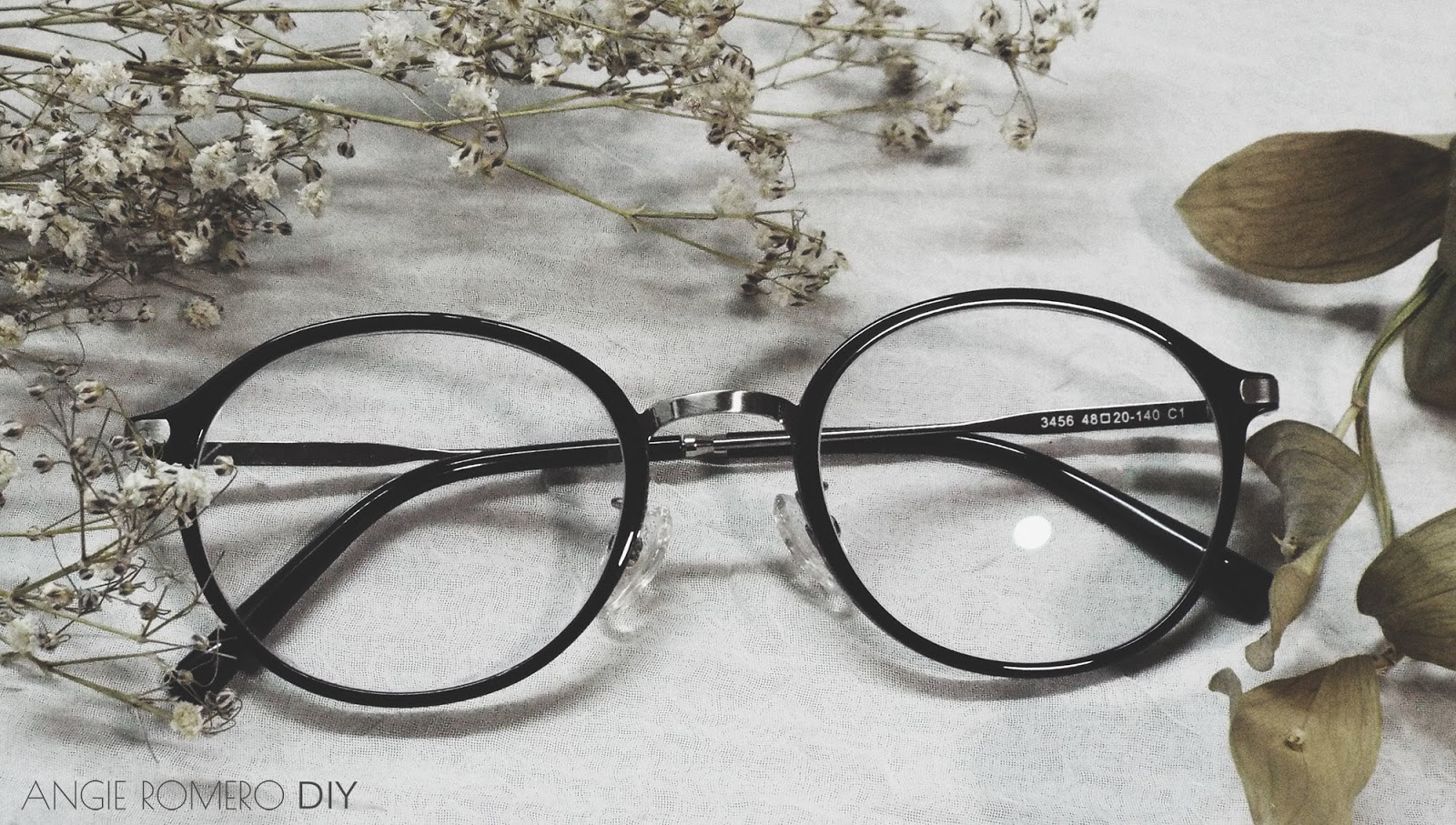 Gafas Firmoo semi redondas, black and silver S3456
