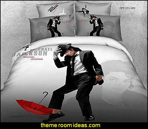michael Jackson Bedding  Music bedroom decorating ideas - rock star bedrooms - music theme bedrooms - music theme decor - music themed decorations - bedding with musical notes - music bedroom decor - music themed bedroom wallpaper - music bedrooms - music bedroom design -  music bedroom accessories - music decor for walls - band decorations rock and roll - rock themed bedrooms - music bedding - music pillows - music comforters - music murals -