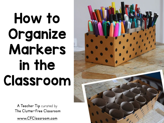 Teachers LOVE markers and are known to collect many. This clever teacher tip will share an easy and free way to store markers in the classroom.