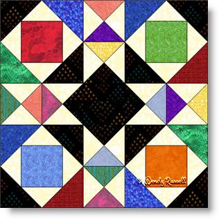 Joseph's Coat quilt block image © Wendy Russell