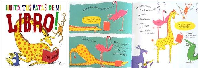 cuento infantil niños 3 a 5 años ¡Quita tus patas de mi libro! fabi santiago