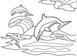 Dolphins Coloring Pages Animals For Print