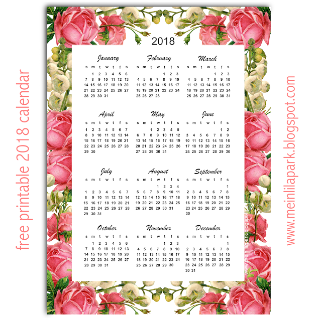 Musings of an Average Mom 2018 Year at a Glance Calendars
