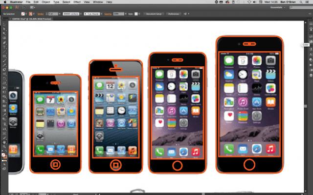 Crear icono de celular profesional en illustrator 1