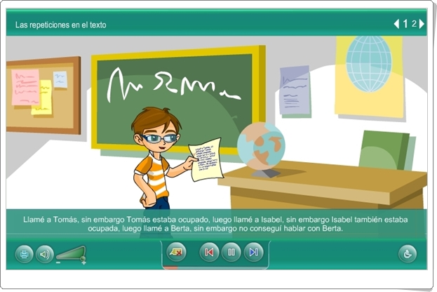 """Construcción de textos"" (Aplicación interactiva de Lengua Española de Primaria)"