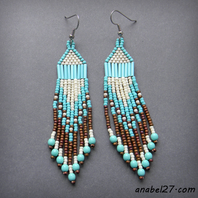 seed bead earrings beadwork jewelry ethnic