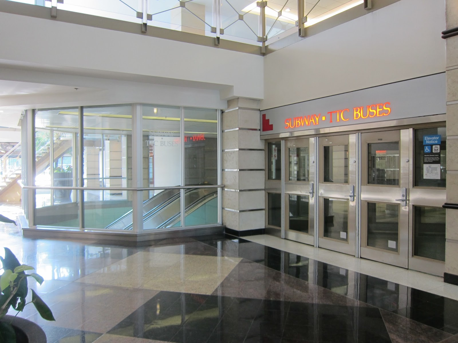 York Mills interior office entrance