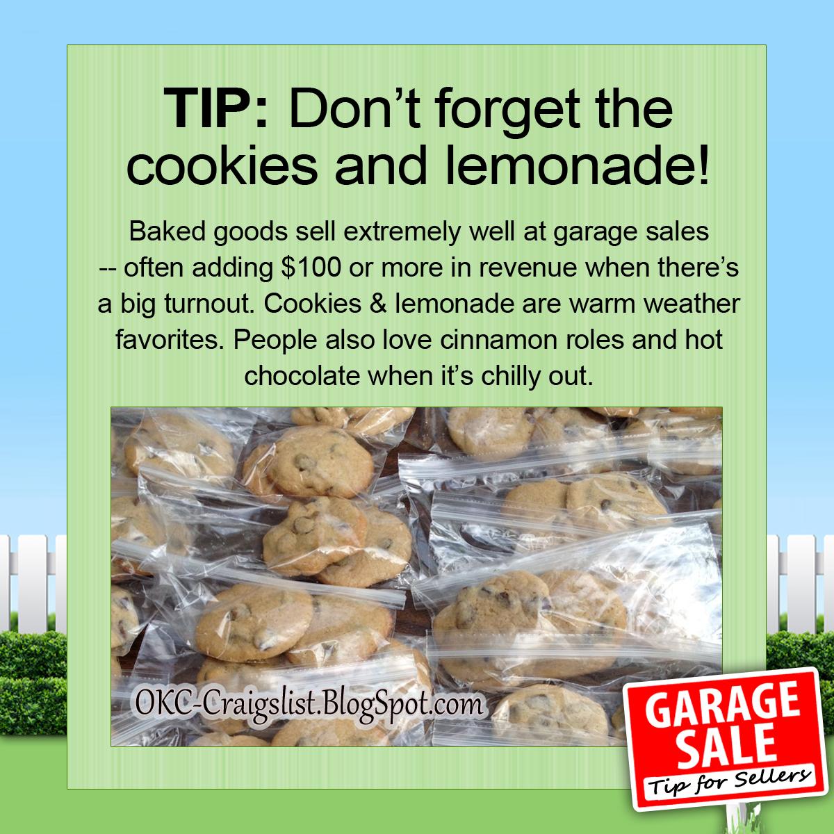 GARAGE SALE TIP: Cater to Hungry Garage Sale Shoppers | OKC Craigslist Garage Sale Blog