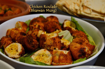 Bharwan Murg ~ Chicken Roulade ~ Stuffed Chicken Kabab