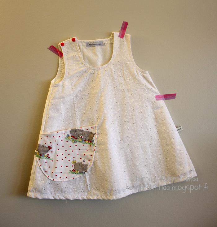mekko a-linjainen mekkotehdas puuvilla pitsi kierrätys