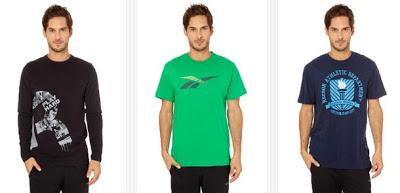 Camisetas para hombre de la marca Reebok