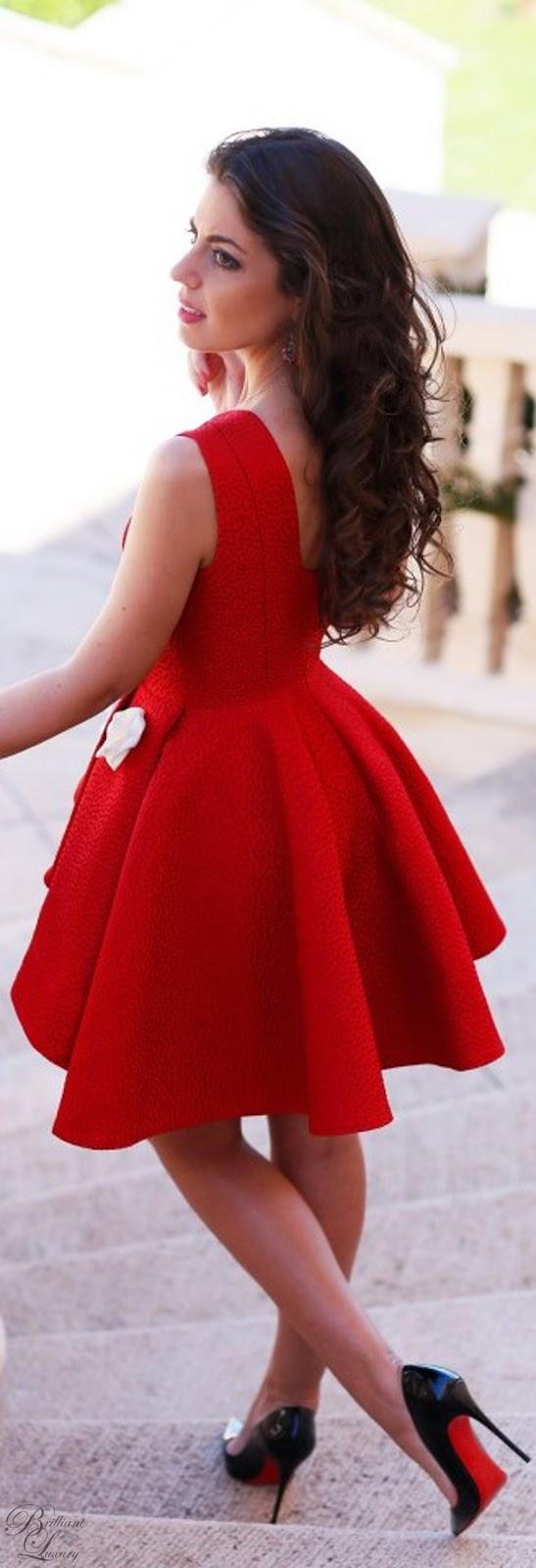 Brilliant Luxury ♦ Brilliant Luxury ♦ Silvia Navarro red Alba dress