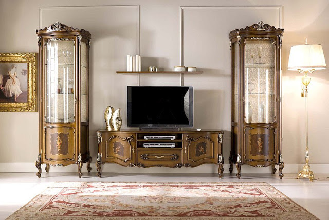 غرف معيشة إيطالية كلاسيكية