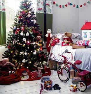 dormitorio decorado Navidad