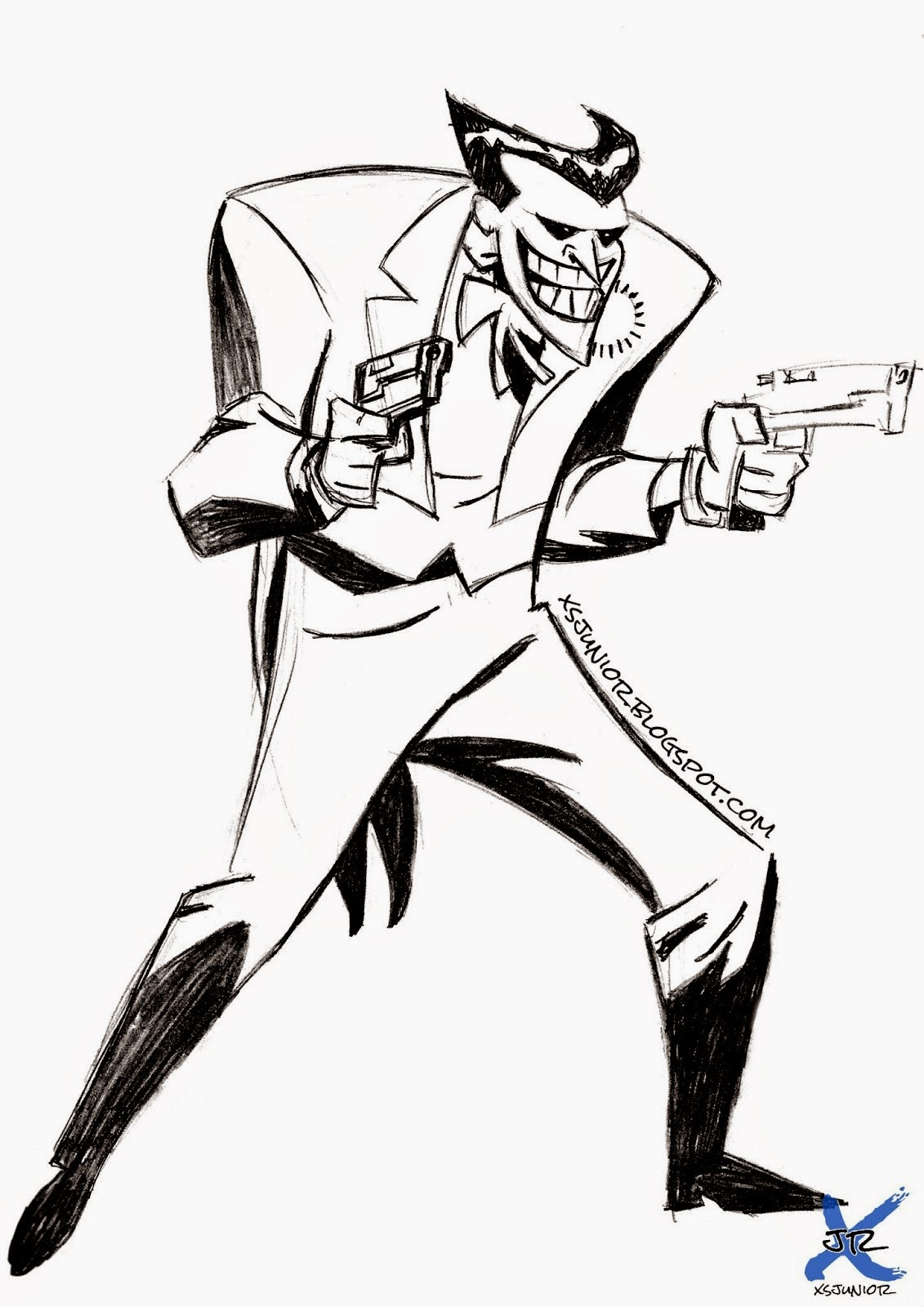 Dibujo con Lapiz: Dibujo del Joker para entrenar líneas y ...
