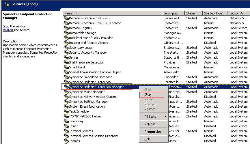Quang Huynh: Move Symantec Endpoint Protection Manager 12 1