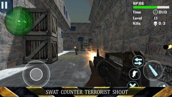 SWAT Counter Terrorist Shoot Apk Mod Earn Free Coins