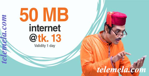 banglalink 50MB internet at 13tk