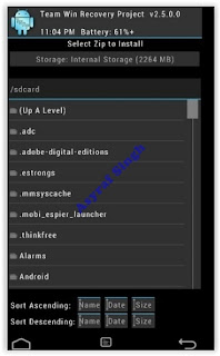 select zip file - twrp recovery