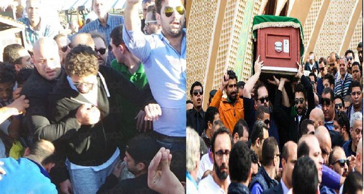 تصرف غير متوقع من إبن الراحل محمود عبد العزيز لحظة دفن والده البارحة