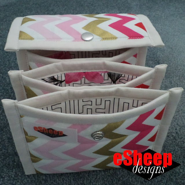 Sew4Home Quilted Accordion Pouch crafted by eSheep Designs