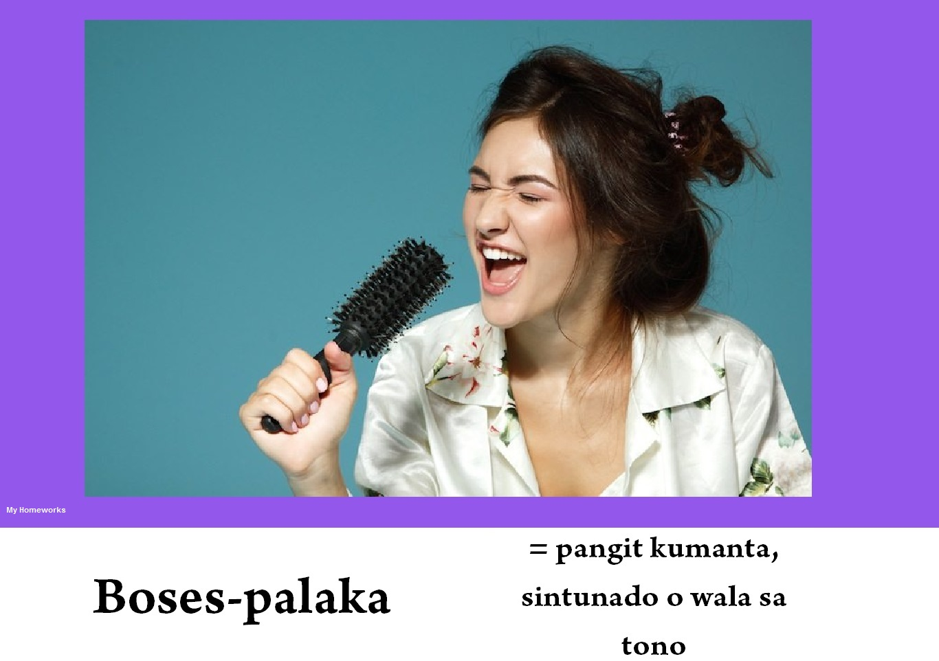My Homeworks Tambalang Salita Boses Palaka