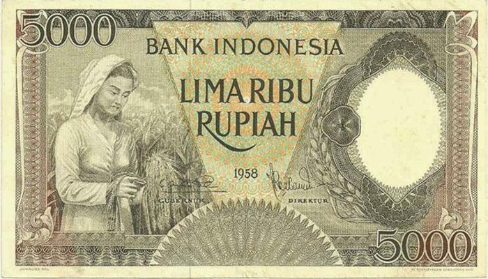 Uang 5000 Tahun 1958