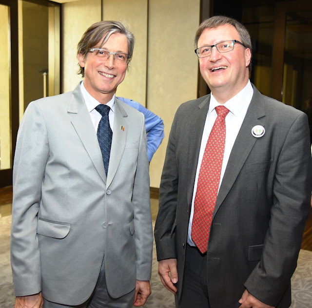 H. E Mr Jan Luyx, Ambassador of Belgium to India with Dr Frank Fichert, Deputy Dean, University of Applied Science, Worms, Germany