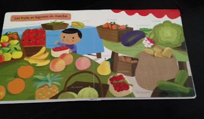 Mon grand imagier à toucher - Editions MILAN JEUNESSE - Les fruits et les légumes du marché