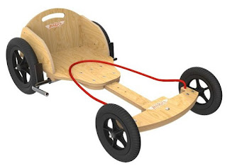 Natural wooden boxkart by Kiddimoto