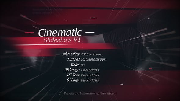 Cinematic Slideshow V 1 | After Effects Project Files | Videohive
