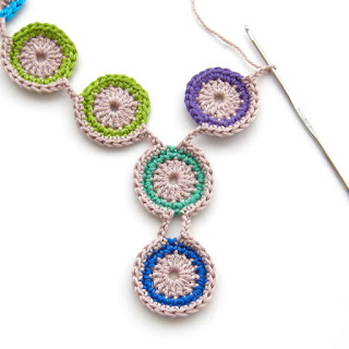 free crochet pattern peacock feather necklace jewelry thecuriocraftsroom the curio crafts room