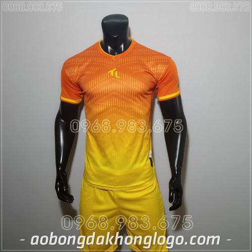 Áo bóng đá không logo TL Rius màu cam