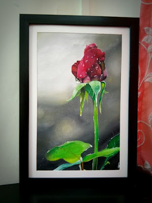 Acrylic Painting: Red Rose