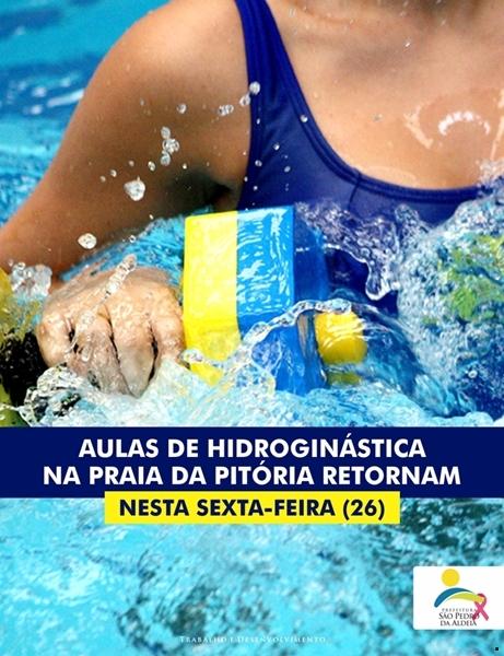 Prefeitura define data de retorno das aulas de hidroginástica na Praia da Pitória