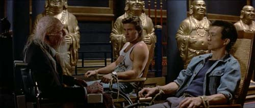James Hong, Kurt Russell, Dennis Dun in Big Trouble in Little China