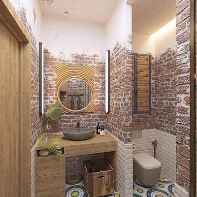 kamar mandi sederhana tapi elegan
