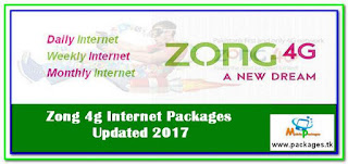 Zong 4g Internet Packages, Daily, Weekly, Monthly 4G Bundles