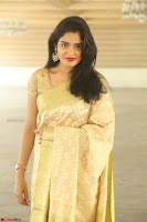 Harshitha looks stunning in Cream Sareei at silk india expo launch at imperial gardens Hyderabad ~  Exclusive Celebrities Galleries 017.JPG